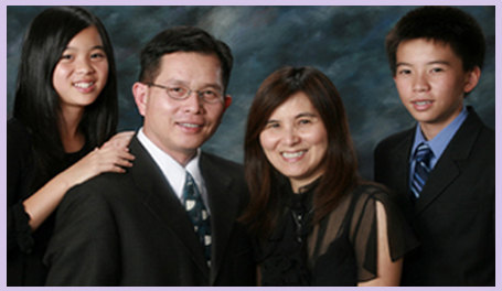 Dr. Thein and his family